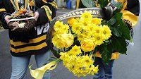 Hokejoví fanoušci na Ivana Hlinku nezapomněli.
