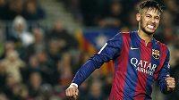 Barcelonský útočník Neymar proti Villarrealu neproměnil pokutový kop.