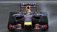 Sebastian Vettel s vozem Red Bull při testech v Jerezu.