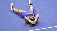 Kanadská tenistka slaví životní triumf.