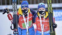 Švédové Linn Perssonová a Sebastian Samuelsson slavili v Novém Městě zlato.