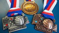 Volejbalový svaz připravil pro nejlepší týmy v republice nové medaile.