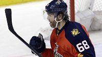 Jaromír Jágr slaví svůj 742. gól v NHL.