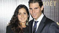 Rafael Nadal se svou manželkou Franciscou Perellovou
