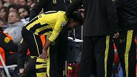 Dortmundský Mario Götze musel v odvetě semifinále LM kvůli zranění brzy střídat.