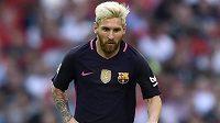 Hvězda Barcelony a argentinské reprezentace Lionel Messi.