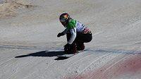 Eva Samková v kvalifikaci snowboardkrosu na MS v Sierra Nevadě.