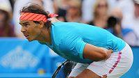 Španělský tenista Rafael Nadal (na snímku) prohrál v prvním kole turnaje v Londýně s Ukrajincem Alexandrem Dolgopolovem.