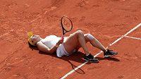 Ruska Anastasia Pavljučenkovová i v leže vybojovala jeden z klíčových bodů čtvrtfinále French Open.