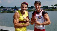 Zlaté medaile na mistrovství republiky získali Martin Fuksa (vlevo) a mezi juniory i jeho bratr Petr.