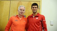 John McEnroe a Novak Djokovič.