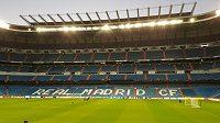 Pohled na stadión Santiago Bernabéu v Madridu.