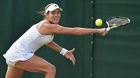 Srbská tenistka Ana Ivanovičová na letošním Wimbledonu.