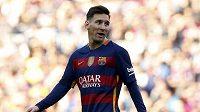Útočník Barcelony Lionel Messi během utkání s Getafe.