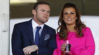 Wayne Rooney na archivním snímku se svoji manželkou Coleen.