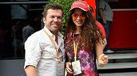 Lothar Matthäus a jeho novomanželka Anastasia Klimková na letošní Grand prix Maďarska vozů formule 1.