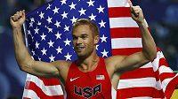 Vicemistr světa v běhu na 800 m Nick Symmonds z USA.