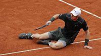 Brit Andy Murray během utkání s Radkem Štěpánekm.