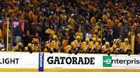 Hokejisté a fanoušci Nashvillu Predators ve finále Stanley Cupu.