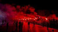 Fanoušci PAOK Soluň.
