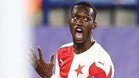 Abdallah Sima se raduje po gólu proti Leicesteru.