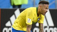 Neymar v dresu brazilské reprezentace.