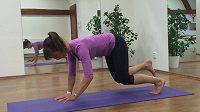 Cvičení na střed těla - lezení po čtyřech, fáze 1.