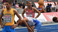 Zklamaný Jakub Holuša po rozběhu mistrovství Evropy v Berlíně.