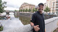 Bývalý obránce brazilské fotbalové reprezentace Cafú na návštěvě v Praze.