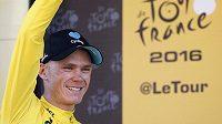 Britskému cyklistovi Chrisi Froomovi patří po vítězství v sobotní osmé etapě Tour de France žlutý trikot pro lídra průběžného pořadí závodu.