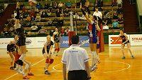 Olomoucké volejbalistky neměly problém a snadno vyhrály ve čtvrtfinále play off v Ostravě.