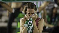 Smutek v Arena Conda Stadium v Chapecu.