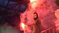 Fanoušek Jablonce během pohárového finále.