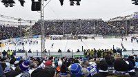 Ledová plocha za Lužánkami, kde v rámci českého Winter Classic hostí Brno Plzeň.