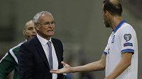 Claudio Ranieri při jeho posledním zápase na lavičce řeckého národního týmu.