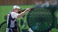 Český střelec Jan Sychra na Evropských hrách v Baku.