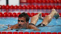 Americký plavec Ryan Lochte po vítězství na 200 m polohový závod při MS v Kazani.