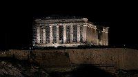 Noční Acropolis, ilustrační foto Atén.