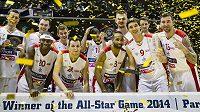 Vítězný český basketbalový tým.
