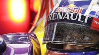 Detail Daniela Ricciarda ze stáje Red Bull.