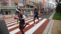 Generálka na olympijský maraton v Sapporu proběhla za přísných opatření.