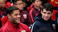 Čínskou ligu hrají i takové hvězdy jako Oscar (vpravo) nebo Hulk.