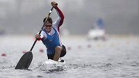 Kanoista Martin Fuksa při testovacím závodě v brazilském Rio de Janeiru.