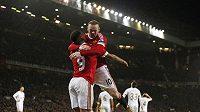 Radost fotbalistů Manchesteru United, ilustrační foto.