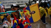 Nabídka suvenýrů v Bogotě.