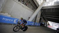 Roman Kreuziger na trati časovky Tour de France.