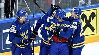 Hokejisté Švédska na archivním snímku.