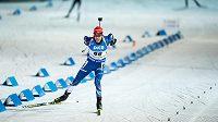 Jaroslav Soukup během sprintu na 10 km v rámci světového poháru v biatlonu ve Vysočina Areně v Novém Městě na Moravě.