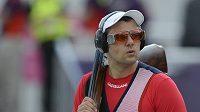 David Kostelecký při kvalifikaci trapu na olympiádě v Londýně.