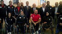Jordánská výprava před odjezdem na paralympiádu v Londýně.